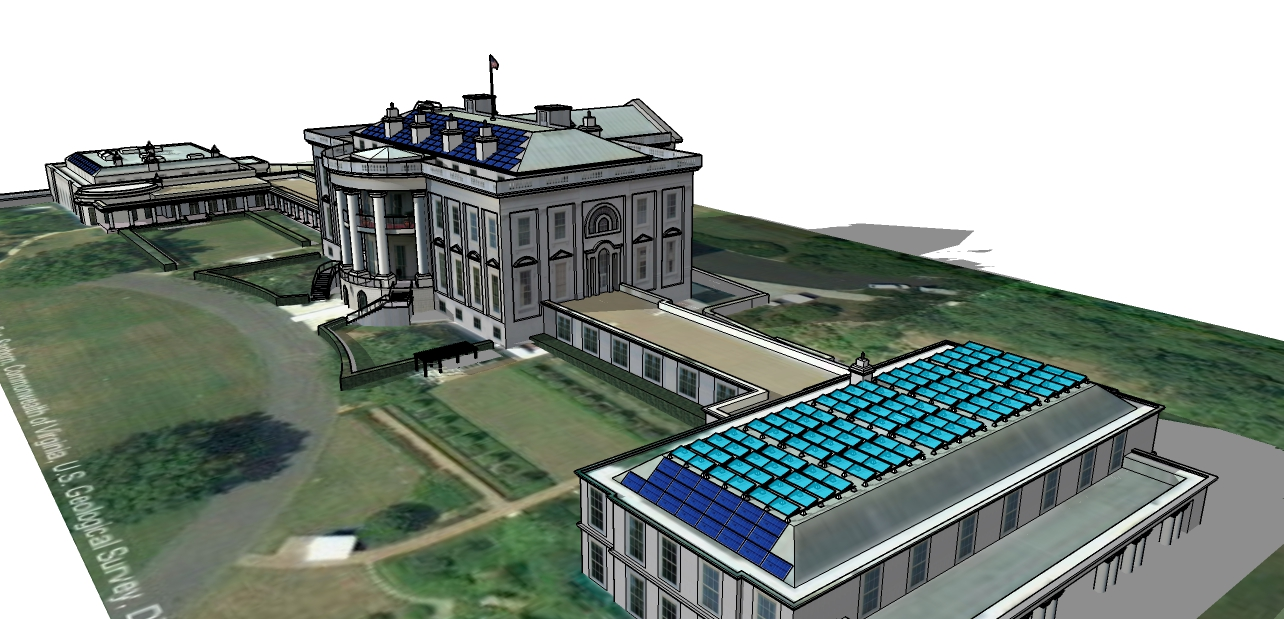 white house covered by solar panels by astrasun